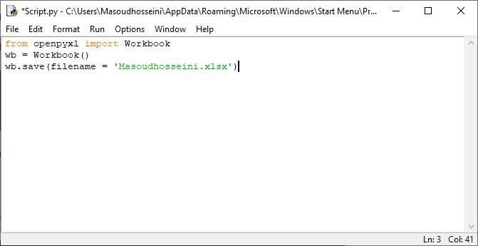 ایجاد یک Workbook خام توسط زبان برنامه نویسی پایتون(Python)