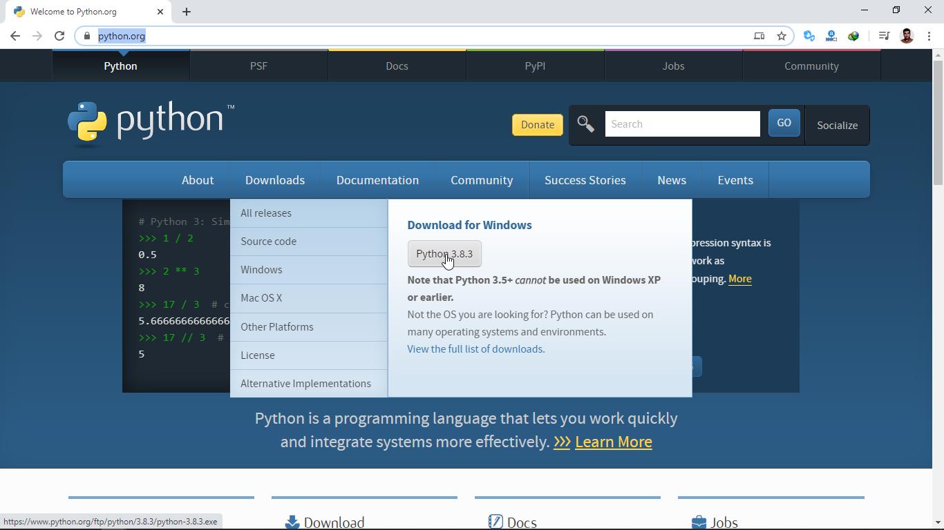 آموزش تصویری نصب پایتون در ویندوز 10